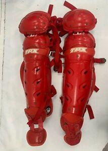 Louisville Slugger BSGXSXL TPX Bionic Shin Guards Adult Red ******