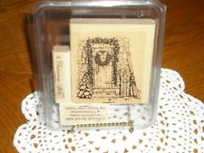 Stampin Up ~ Home For Christmas ~ Set Of 3 (Three) ~ Mounted ~ Used lightly