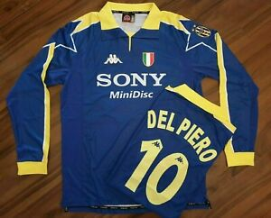 Maglia vintage DEL PIERO numer 10 anno 1997 1998juventus seria A CAPITANO sizeM