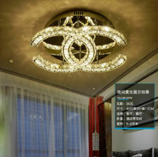 Warm bedroom crystal ceiling lamp personality dimmable LED pendant light deco