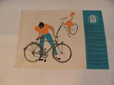 altes Prospekt mit Diamant  Fahrrad