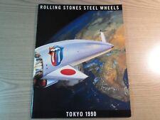 Rolling STONES-Steel Wheels Tokyo 1990 Giappone Tour Giappone programma Tour