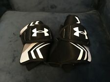 Under Armour Stradegy Kids Lacrosse Arm Pads Size Small Black