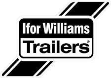 Ifor William Trailers Logo Sticker in Black A6 (148x105mm) trailer by stika.co