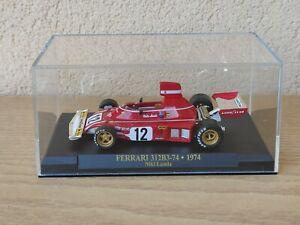 Ferrari 312B3 - 1974 Niky Lauda Formula 1 modellino IXO Die Cast 1/43 con teca