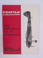 Profile Publications #46 The Nakajima Ki-43 Hayabusa  Color Profiles BW Photos