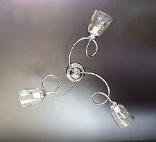 Lámpara de araña 3 luces,Plafón,tazas transparente,murrine colores Vidrio Murano