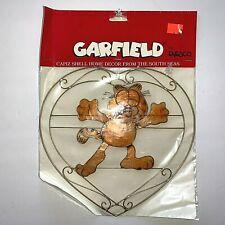 Garfield the Cat Capiz Shell Hanging Decor Garfield in a Heart Enesco