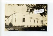 San Rafael CA (Marin County) RPPC real photo, post office, funny message, 1945