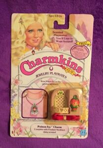 CHARMKINS Jewelry Playmates POISON IVY CHARM 1984 Hasbro New Sealed