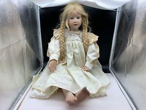 Hildegard Günzel Wax Over Porcelain Doll 76 Cm. Very Rare / See Photos