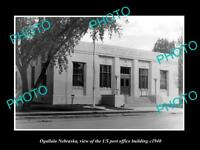 OLD LARGE HISTORIC PHOTO OF OGALLALA NEBRASKA US POST OFFICE BUILDING c1940