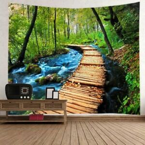 Nature Scenery Tapestry Art Room Wall Hanging Bedspread Tapestry Home Decoration
