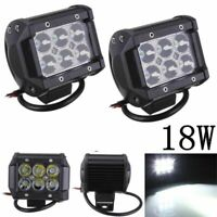 6 LED 18W 12V Car Spotlight Bright Projector Lamp Work Light White For SUV ATV