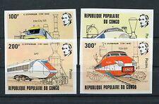 Kongo 855/58 postfrisch unhezähnt / Eisenbahn ............................1/3334