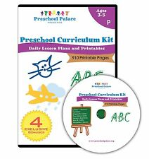 The Ultimate Preschool Curriculum Kit - Printable Workbooks Lesson Plans and ...