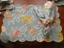 New listing Beach Placemats C&F With Matching Shell Napkin Rings And Napkins X4 Sets Nwt