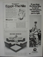 1979 United Way Fundraising Charity Wheelchair Basketball Vintage Print Ad 12920