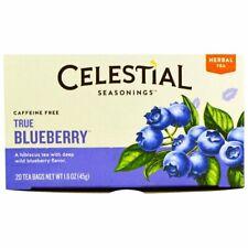 Celestial Seasonings Herbal Tea,Caffeine Free,True Blueberry,20 Tea Bags(2 pack)
