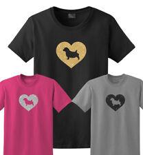 Norfolk Terrier Glitter Heart T-Shirt, Men Women Ladies Female Youth Kids dog