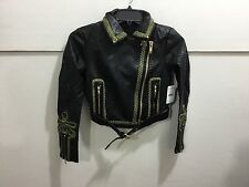 Free Peop;e ladies XS nwt absolutely gorgeous detailed leather like jacket