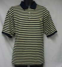 The Masters Collection Polo Shirt Navy Blue Yellow Golf XL pima cotton