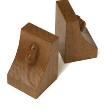 Mouseman Thompson 100% Genuine oak Book Ends