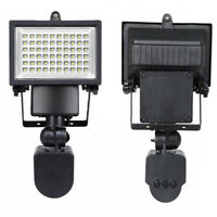 SPOTLIGHT 60 LED SOLAR WHITE LIGHT lamp Spotlight Garden MOTION SENSOR Q5V8 Q1L2
