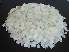 BEACH SEA GLASS SURF TUMBLED WHITE LOT  OVER 2000 PIECES 10 LBS