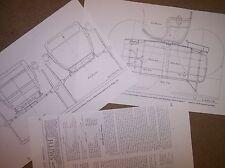 horse drawn two passenger buckboard working draft model plans
