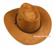 Teen Adult Size Original Ropes Western Cowboy Hat Cattleman Unisex Costume Party