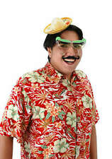 FIESTA Costume Kit with Mini Yellow Sombrero, Margarita Glasses, Bandit Mustache