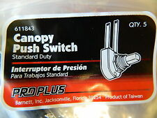 Proplus Standard Duty Canopy Push Button Switch w/Wire Bag Of 5 Switches #611843