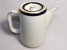 QUEENS BLUE  Solian Ware Rare Coffee Pot - Simpsons, Ltd. Cobridge, England