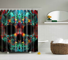 New Polyester Bathroom Cool Abstract Skull Waterproof Shower Curtain 60x72 Inch