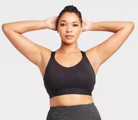 Women's Medium Support Wide Strap Bra - All in Motion - S - Black - C465