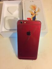 Apple iPhone 6s Plus - 16GB - Silver (Unlocked) Customised Red and White
