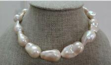 """HUG18""""16-20MM NATURAL SOUTH SEA GENUINE GOLD PINK NUCLEAR PEARL NECKLACE"""