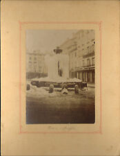 38 BOURGOIN PHOTO GRAND FORMAT FONTAINE PRISE PAR LA GLACE VERS 1900