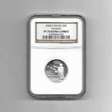 2008S SILVER PROOF HAWAII QUARTER NGC PF70 ULTRA CAMEO - 90% SILVER - HIGHEST