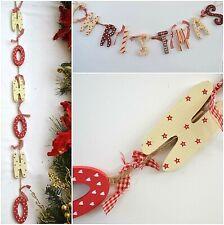 Christmas Garland Bunting Decorations. Choose HOHOHO, CHRISTMAS / BELIEVE