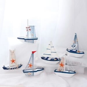 Marine Nautical Creative Sailboat Mode Room Decor Figurines Miniature Small .bu