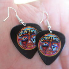 Sublime Earrings; Tripped Out Psychedelic Sun; Guitar Pick Jewelry; Silver Tone