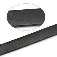 2M Schwarz Flach Lederband Lederschnur Lederriemen Schmuck Kordel 10x2mm