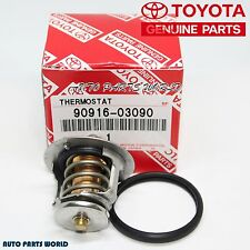 NEW GENUINE TOYOTA 4CYL THERMOSTAT & GASKET SET 90916-03090 & 16325-63011