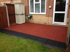 Red Rubber Tiles 1 SQM - 500 x 500 x 30mm -Playground-Gymnasium-Interlocking