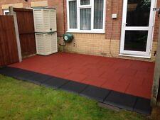 Red Rubber Tiles 1 SQM - Playground - Gymnasium - Garden