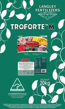 Troforte Roses, Azaleas & Camellias Fertiliser 20kg Langley Fertilizer Microbes