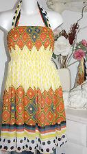 Lavand Dress Neckholder  Vestido Kleid  Retro  Orange   Size: L   Neu