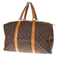 Auth LOUIS VUITTON Sac Souple 45 Travel Hand Bag Monogram Brown M41624 32MF144